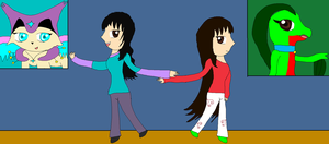 Gift: Me and My DA Twin :D by LadyDelaisol