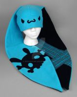 Teal Punk Bunny Hat by SewDesuNe
