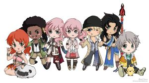 FFXIII Gang by TirraMisu