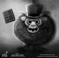Daily Paint 1799# Baa-baa-dook! by Cryptid-Creations
