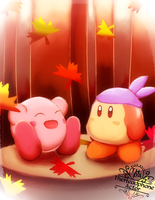 Kirby and the Falling Leaves by THpA