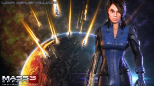 Mass Effect Wallpaper - Ashley Williams by razor-rebus