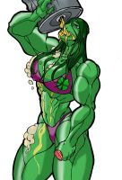 she-HULK SMASHed by MrLively