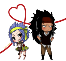 Levy Gajeel and Lily Chibi by PastrieCake