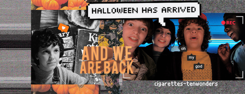 Timeline 'STRANGER THINGS 2'| halloween and grunge by cigarettestenwonders