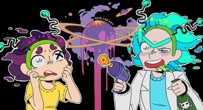 Rick and Morty by Rozerriey