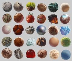 30 Days of texture studies by GhostlyCarrot