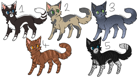 Warrior Cat 5 Adoptables #1 by JaystarNZ
