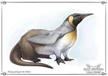 Gryphon Challenge 23: King penguin and Otter by Pechschwinge