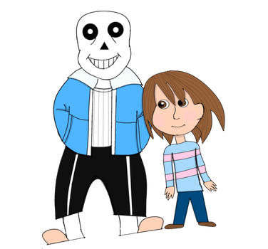 Sans and Frisk for DeeperDown Contest by AgentSandraCartrip