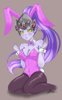 Bunny suit Widowmaker by Ghost-toast030