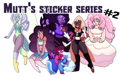 steven universe stickers collection two by moonstruckmutt