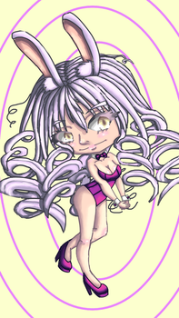Happy Late Easter with Rabbit Girl Chibi by BritxBrit