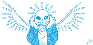 Sans in MS Paint by Kasiarzyna-QV