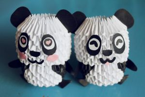 Panda Twins ^^ by RoseaOrchis