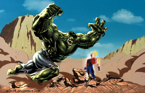 Vegeta vs Hulk by JayC79