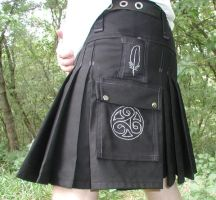 Black Raven and  Triskele Kilt by Sylver-Satyrian