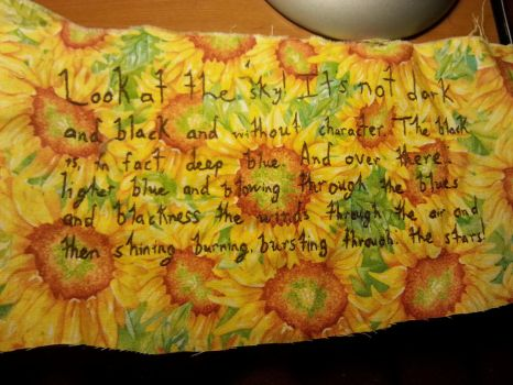 Dr. Who Quilt - VanGogh Quote by purplekittykatgal