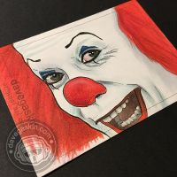Pennywise sketch card by BikerScout