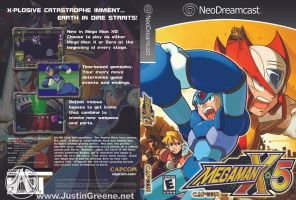 NeoDreamcast Megaman X5 Cover by JustinGreene