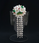 Three Friends of Winter ~ Tsumami Kanzashi by japanesesilkflowers