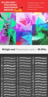 90 Low-Poly / Polygonal Photoshop Brushes Bundle by RoundedHexagon