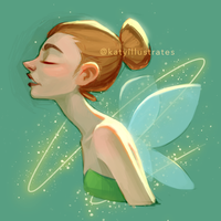 Day 56 - Tinkerbell by katyillustrates