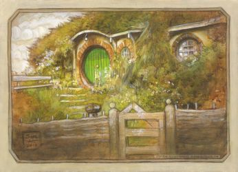 Bag End sketch by BohemianWeasel