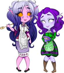 Tyralea and Lily! by DerpQueenLily