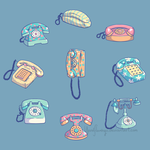 Vintage Telephones by YardFlamingo