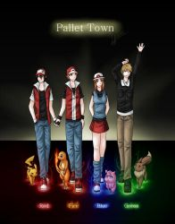 PKMN - Pallet Town Troublemakers by VioVayo