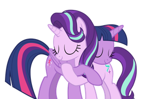 Princess Twilight And Starlight (Vector) by ManDash1996