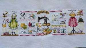 Finish! Sewing Room Cross stitch! by Katezath