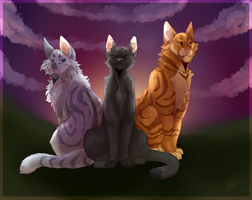 With the Stars in Their Paws by greenskes
