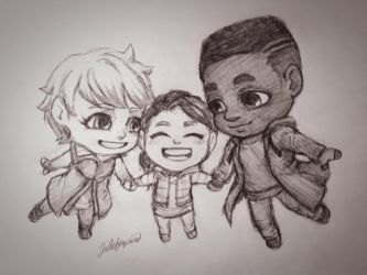 Kara, Alice, and Luther by SparklyChainsaw