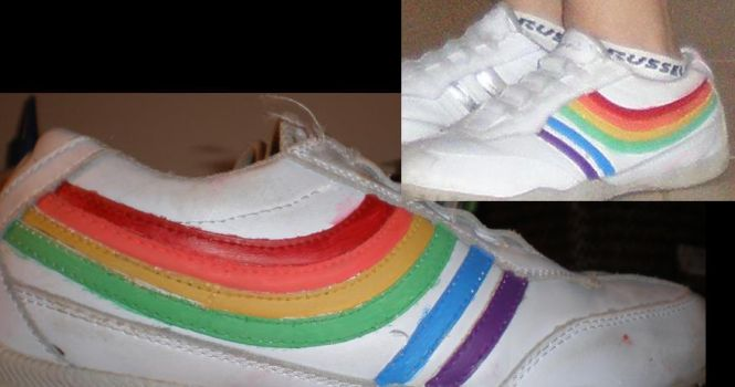 Rainbow Shoes by Stargirll