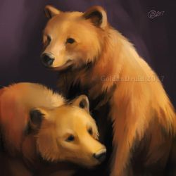 Bear Brothers - SpeedPaint by GoldenDruid