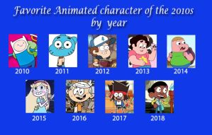 2010s Favorite Characters by 04StartyCornOnline88
