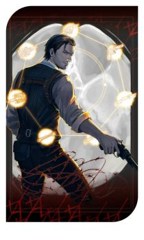 The Evil Within Tarot: The magician by Juongie