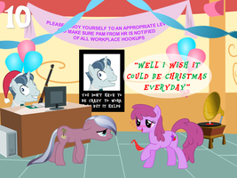 2017 Advent Day 10 Office Christmas Parties by bronybyexception