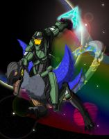 Master Chief and the Moa by HolmzMcJonz777