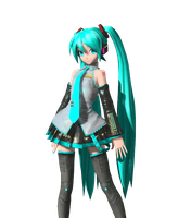 PDA Official Default Miku MMD by Chizukimo