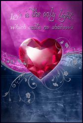 Love is the light that casts no shadows by Nameda
