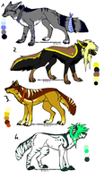 CLOSED - Canines Adoptables 173 by LeaAdoptables