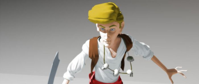 Guybrush Threepwood 3D -Color- by ChicosArt