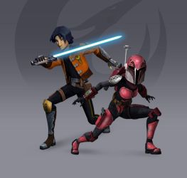 Ezra + Sabine - Rebels Season 3 Redesign (Fan Art) by Brian-Snook
