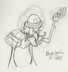 Fanart- Bowler Hat Guy sketch by Meet-The-Robinsons