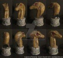 Raptor Bust Sculpture by RaptorArts
