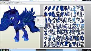 Princess Luna MLP - My newest Papercraft project by Znegil