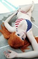 Evangelion: Poolside Asuka by tipsy-g